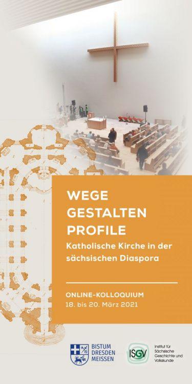 Flyer Kolloquium 100 Jahre Bistum Dresden-Meißen