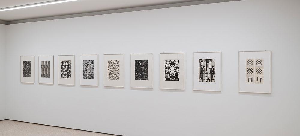 Kunsthaus Zug, Jorit Aust:  Ausstellungsansicht 'ZuZug aus Osteuropa. Positionen der Sammlung, Raum zu Josef Hoffmann