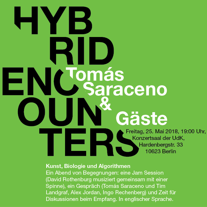 Hybrid Encounters mit Tómas Saraceno