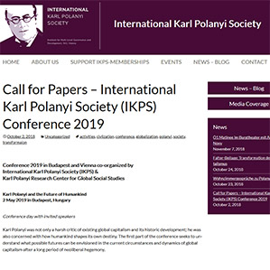 Screenshot KArl Polanyi Website