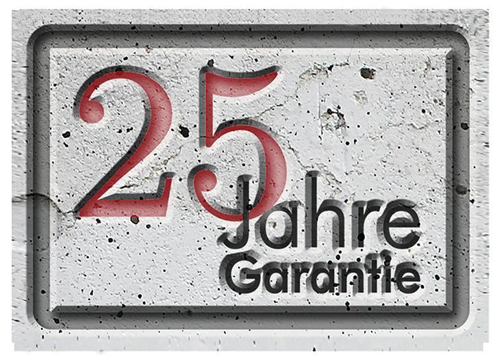 25 Jahre Garantie