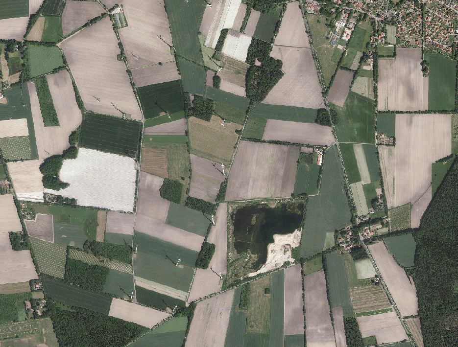 © GeoBasis-DE/BKG 2018 (p) Hexagon (Ausschnitt Landkreis Stade 1:10.000)