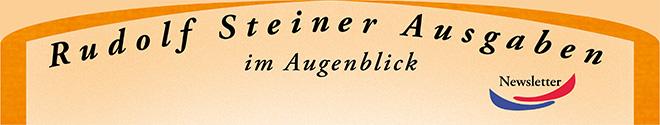 Abbildung: Rudolf Steiner Ausgaben – im Augenblick