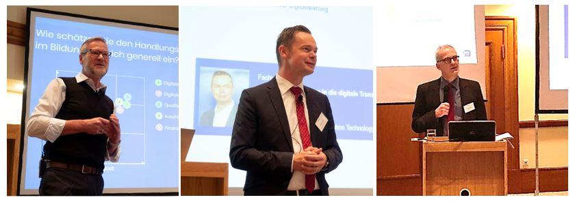 Dr. Ulrich Schmid, Michael Janning und Dr. Knut Diekmann (v. li.)