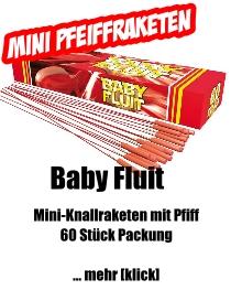 Mini-Knallraketen *Baby Fluit* mit Pfiff
