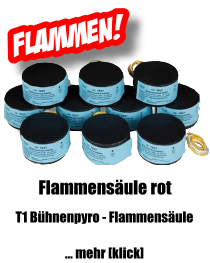 Flammensäule rot - Weco Bühnen-Pyrotechnik
