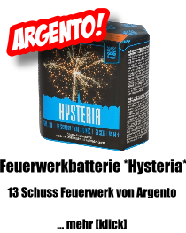Argento Feuerwerkbatterie *Hysteria*
