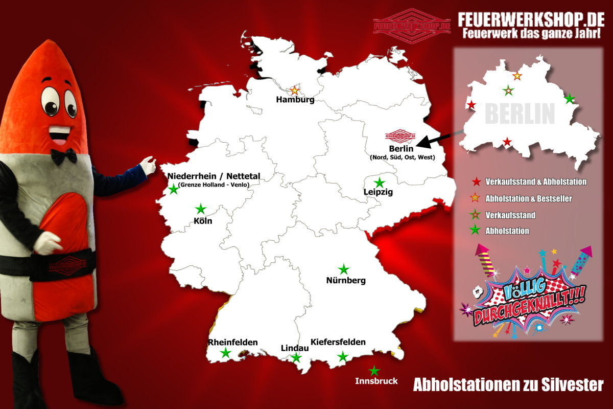 Abholstationen von feuerwerkshop.de