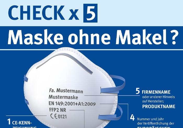 Plakat Maskencheck
