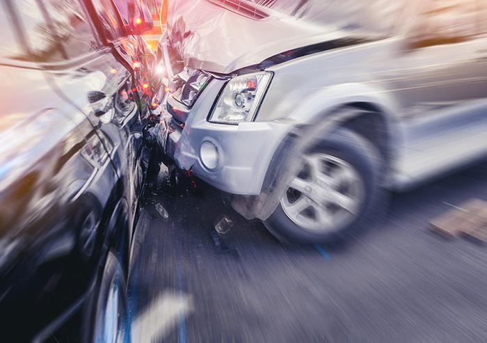 Autounfall mit Blechschaden