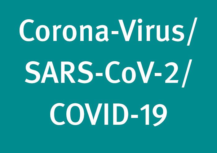 Schild Corona-Virus
