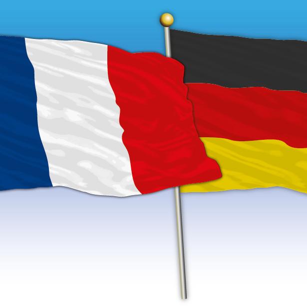 Flaggen Frankreich und Deutschland