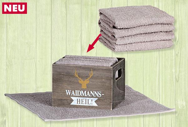 Box mit 4 Gästehandtüchern