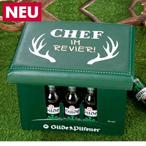 """Sitzpolster """"Chef im Revier"""""""