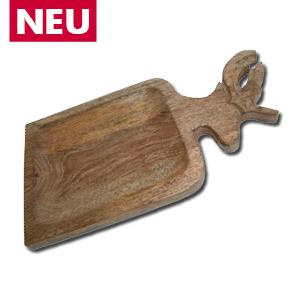 Schale Hirsch aus Mangoholz