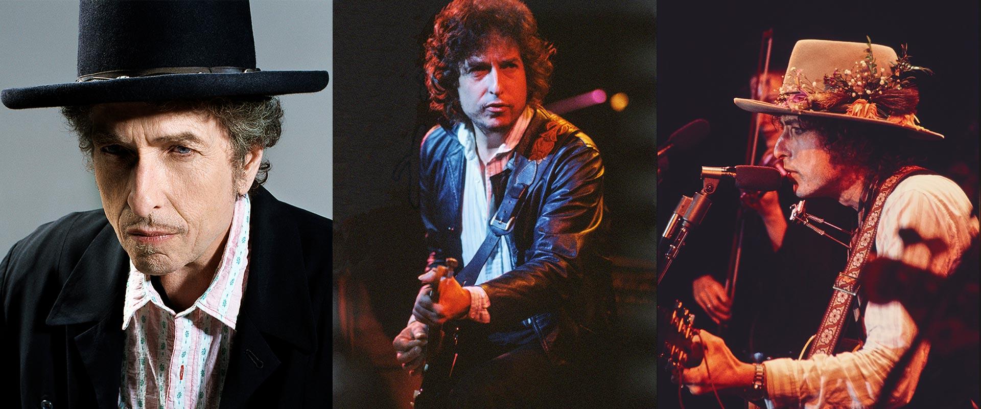 "Bob Dylan Porträt (Foto: William Claxton) / ""Trouble No More"" (Foto: Baron Wolman) / ""Rolling Thunder Revue"" (Foto: Ken Regan) © Sony BMG"