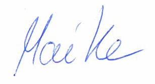 Unterschrift Maike
