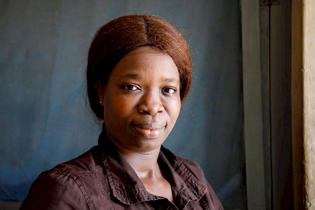 Elsie Amomoo arbeitet als Näherin für die Fair-Handels-Organisation Global Mamas in Ghana