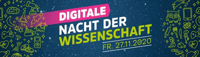 Banner Digitale Nacht der Wissenschaft