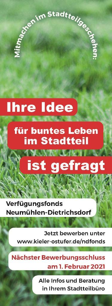 Türanhänger Verfügungsfonds Neumühlen-Dietrichsdorf