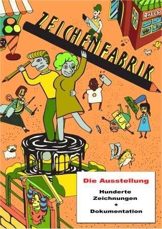 Flyer zur Ausstellung der Zeichenfabrik