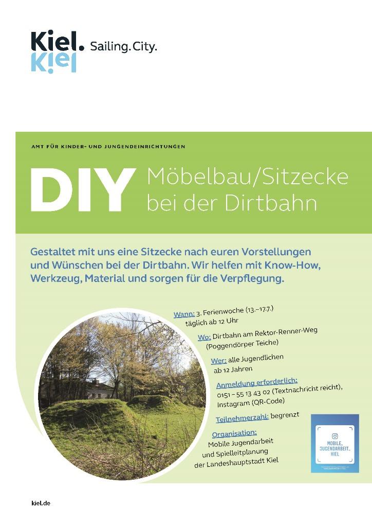 DIY - Möbelbau/Sitzecke bei der Dirtbahn
