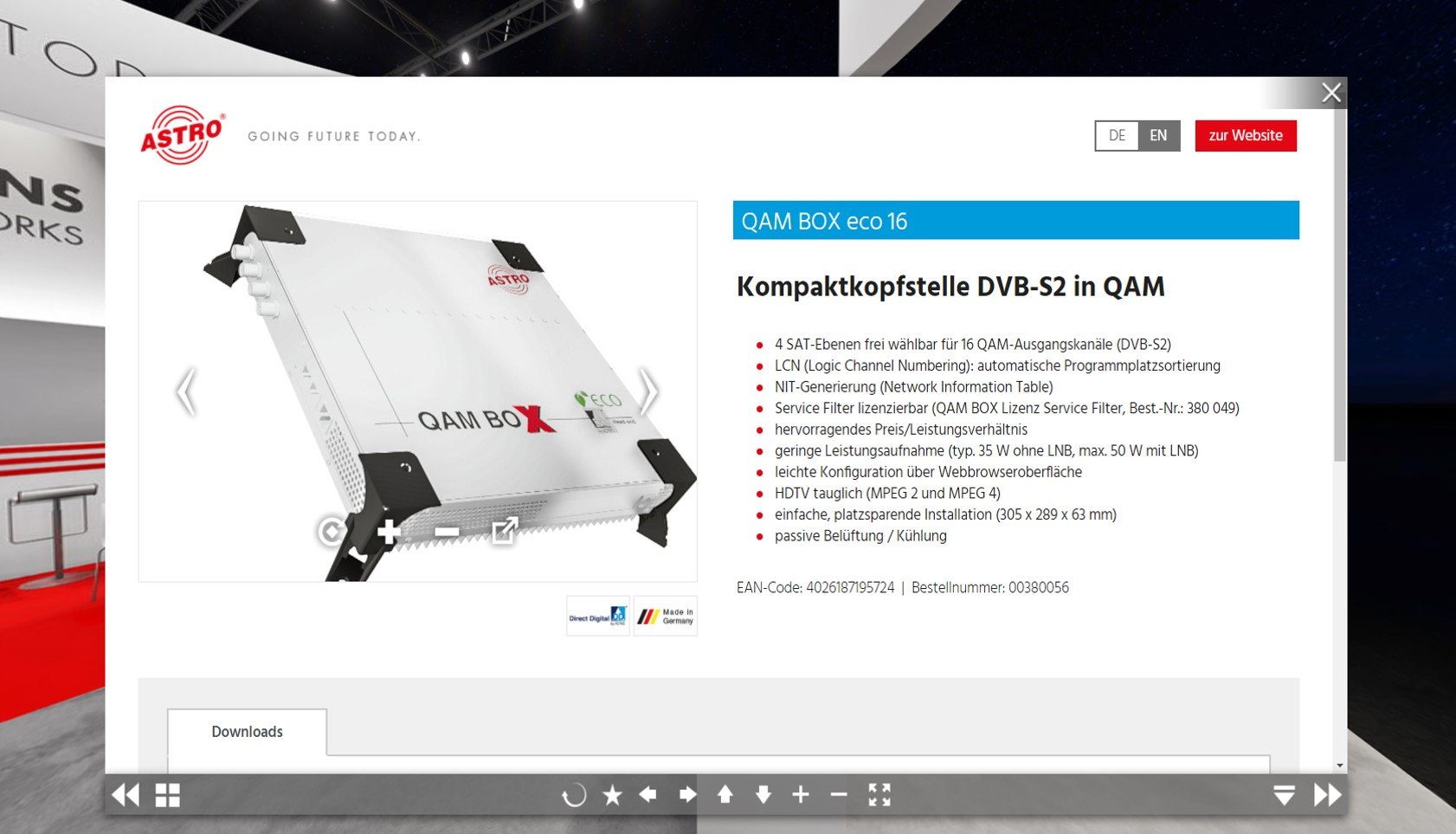 360 Grad Produktansicht virtuelle Messe ASTRO