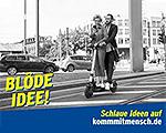 Kampagne kommmitmensch Plakat Blöde Idee