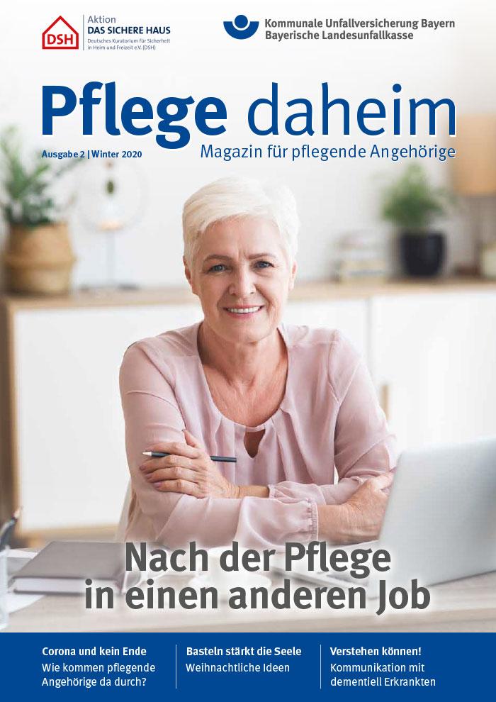 Titel des Magazins Pflege daheim