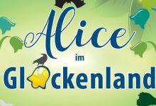 """Veranstaltungsplakat """"Alice im Glockenland"""". Grafik: Laura Schanz"""