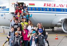 Tschernobyl-Kinder auf dem Flughafen Langenhagen