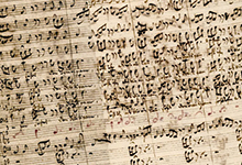 Auszug aus Bachs Abschrift aus dem Jahr 1736. Quelle: www.wikiwand.com/en/St_Matthew_Passion