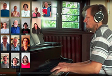 Kantorei musiziert online. Screenshot: St-Pankratius-Gemeinde