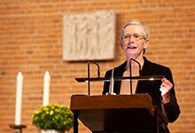Regionalbischöfin Dr. Petra Bahr referiert. Foto: Stefan Heinze