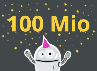 100 Mio Artikelaufrufe