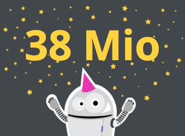 38 Mio Artikelaufrufe