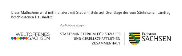 """Die Arbeit des Netzwerkes Tolerantes Sachsen wird gefördert im Rahmen des Landesprogramms """"Weltoffenes Sachsen für Demokratie und Toleranz""""."""