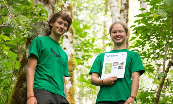 2 Schüler nach dem Waldlauf