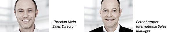 Christian Klein, Sales Director - Peter Kamper, International Sales Manager
