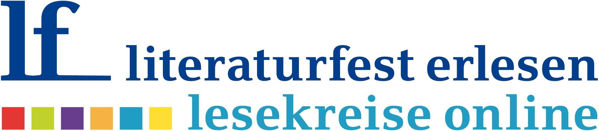 Literaturfest erlesen. Lesekreise online (Logo)
