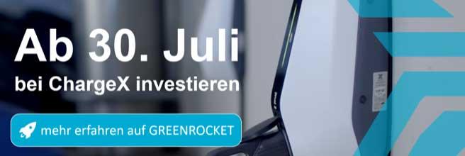 ChargeX startet Crowdinvesting auf GREEN ROCKET