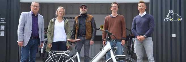 Neuer E-Bike-Verleih Flensburgs in Betrieb genommen