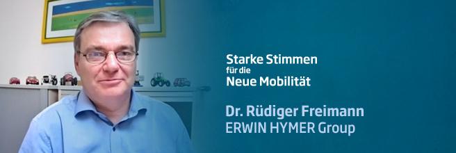 »Starke Stimmen für die Neue Mobilität« - mit Dr. Rüdiger Freimann