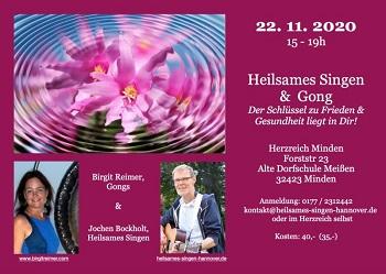 """Flyer """"Heilsames Singen und Gong"""""""