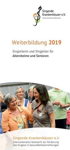 Flyer Weiterbildung Altenheime und Senioren