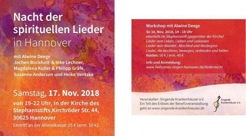 Flyer Liedernacht Hannover