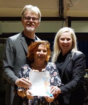 Norbert Hermanns, Carmen Schröder-Meißner (SL), Susanne Stupp (Bürgermeisterin von Frechen); Foto: Simon Wiener
