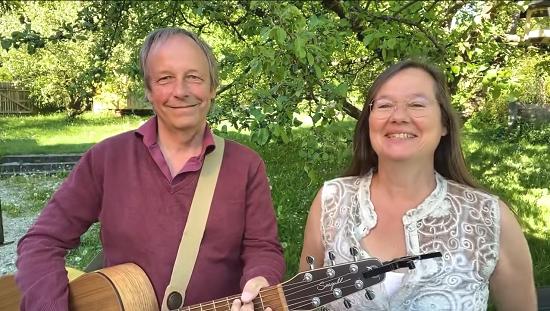Wolfgang und Katharina Bossinger beim Livestream am 7.5.2020