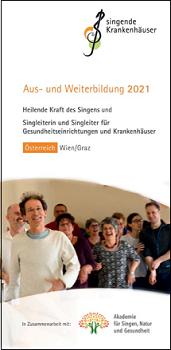 Titelblatt Weiterbildungsflyer 2021 Österreich