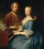 Der Komponist Carl Heinrich Graun mit seiner Frau Anna Luise